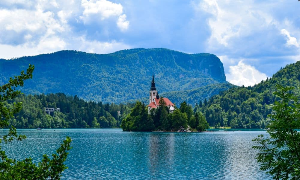 Lake Bled island and church
