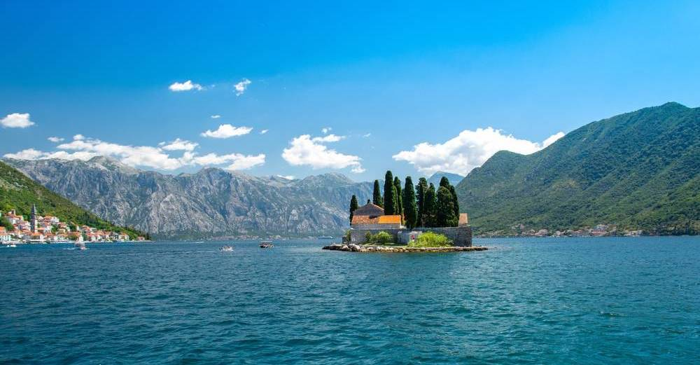 Our Lady of the Rocks in the bay of Kotor