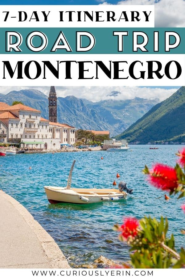 Are you planning to travel Montenegro? This 7 day Montenegro itinerary is the perfect road trip through this stunning Balkan country. From the Bay of Kotor, Perast, Durmitor National Park, hidden hiking trails, the horseshoe bend in Lake Skadar National Park, the historical Stari Bar and the beautiful beaches of Ulcinj, this Montenegro road trip highlights the best the country has to offer. Use this guide for planning the ultimate road trip this summer #montenegrotravel #balkanstravel #easterneuropetravel #roadtrip