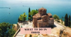 Ohrid things to do