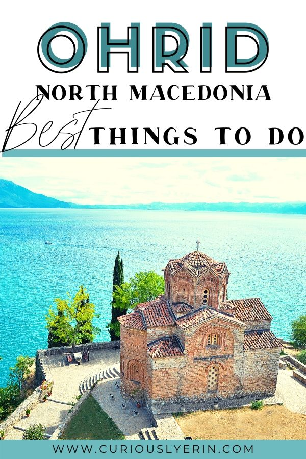Visit Lake Ohrid, North Macedonia. Discover the top things to do in Ohrid and why this small town is worth visiting. Ohrid is full of history, charm and is the perfect destination in the Balkans for a few days of downtime and relaxation. Ohrid is a great destination for budget travellers. #balkanstravel #ohridmacedonia #cheapestdestinationseurope #budgettravel