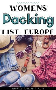 womens european summer packing list