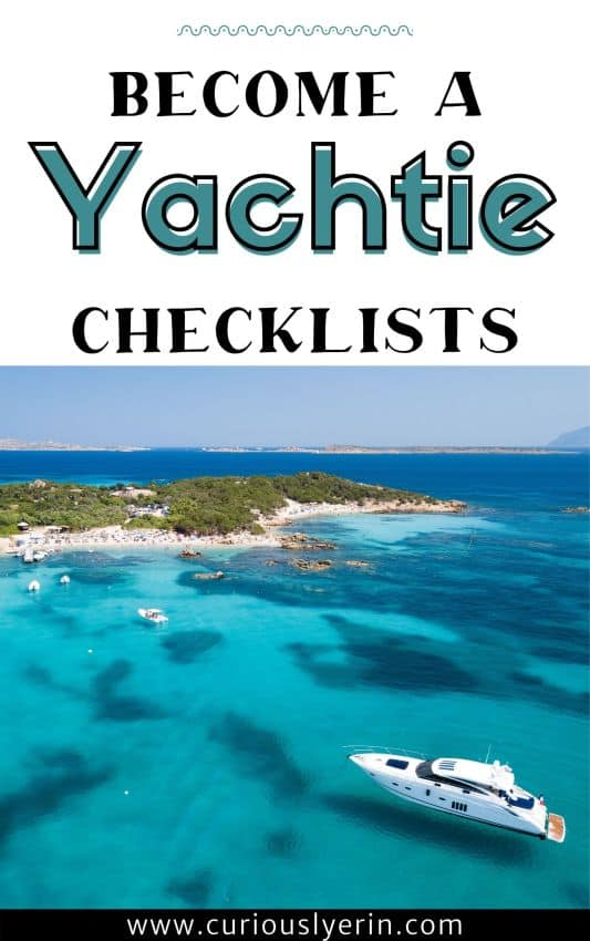 Become a yachtie checklists