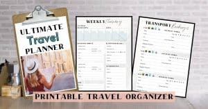 Printable Travel Organizer