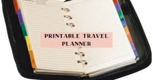 Printable travel itinerary and checklists
