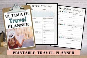 Travel Planner printable