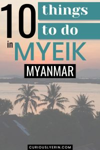 This has 10 of the best things to do in Myeik by a local. The guide is a blend of touristy and non-touristy Myanmar things to do. If this is your first visit to Myanmar, you'll want to see Myanmar people in traditional dress, the local pagodas, main markets and also visit the Myeik islands. This guide also tells you the best places to eat in Myeik (some that aren't on Tripadvisor) and where to stay. #myeikmyanmar #myanmartravel #southeastasiatravel #myanmardestinations