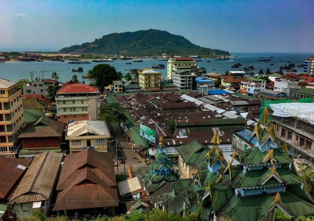 Views over Myeik, Myanmar