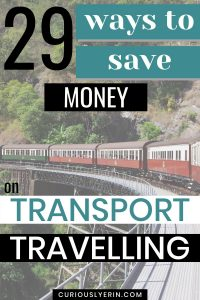 Make sure when you are travelling you get the cheapest transport. Here are 29 ways to save money on transport either abroad or in your home country. You'll discover the best travelling transport, how to save money on air travel, car travel and road trips, getting affordable cruise, bus trip and other ways to save money on transport and travelling #travelandtransport #traveltips #travelhacks #budgettravel