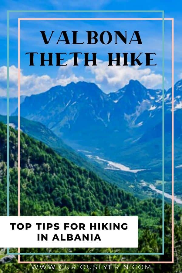 Valbona to Theth hiking tips. Make sure you know these 10 things before hiking Albania's top day hike #besthike #hikeAlbania #travelalbania #Shkoder
