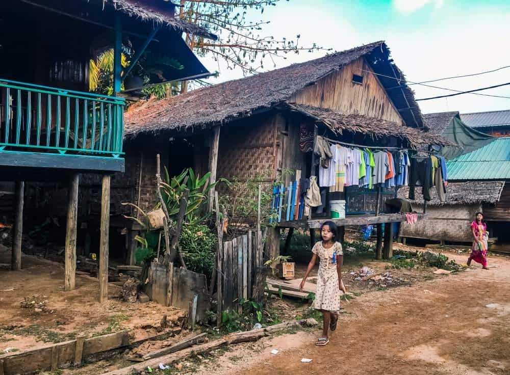 Small villages and village children