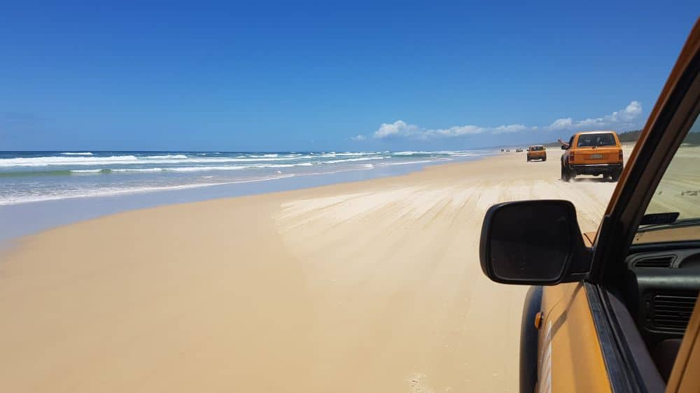 Driving on Fraser Island's beaches