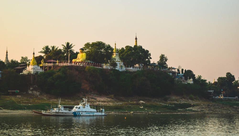Pagodas along the Irrawaddy River