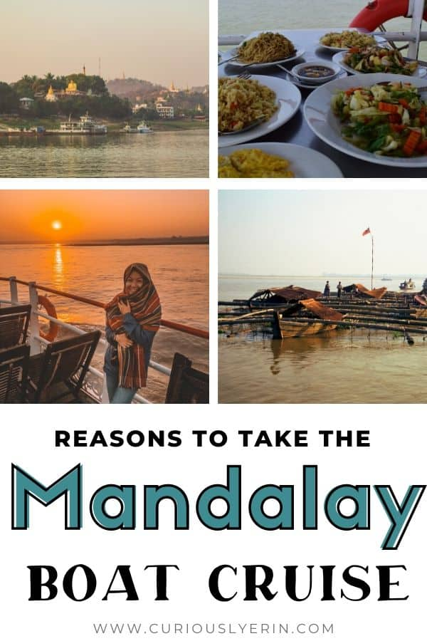 Looking for things to do in Myanmar? The Bagan to Mandalay (and Mandalay to Bagan) boat cruise is a must-do for your trip. This guide has all the reasons why you should take a river cruise along the Irrawaddy River. How much it will cost, where to stay in Bagan and Mandalay and other boat cruise tips | #travelmyanmar #myanmar #asia #myanmartravelitinerary