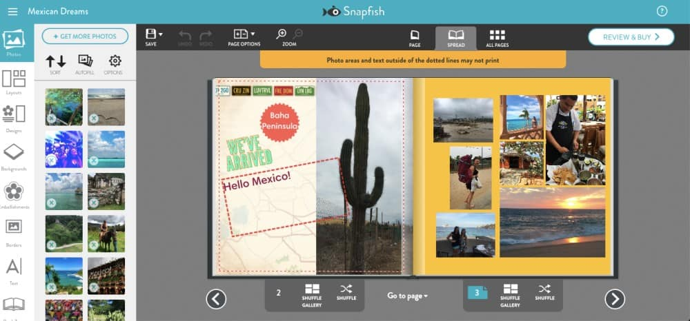 Create photo books of travels