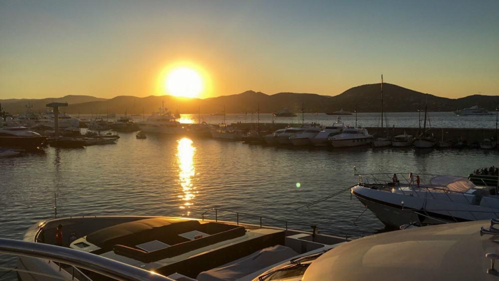 sunsets as a yacht stewardess