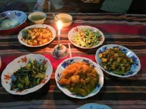 Dinner on the trek