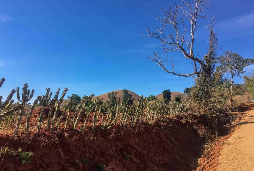 Dry barren landscape, Myanmar