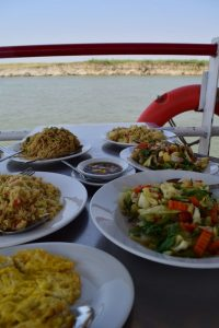 Lunch on the river cruise