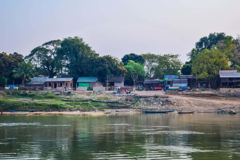 Local villages along the Ayeyarwady River