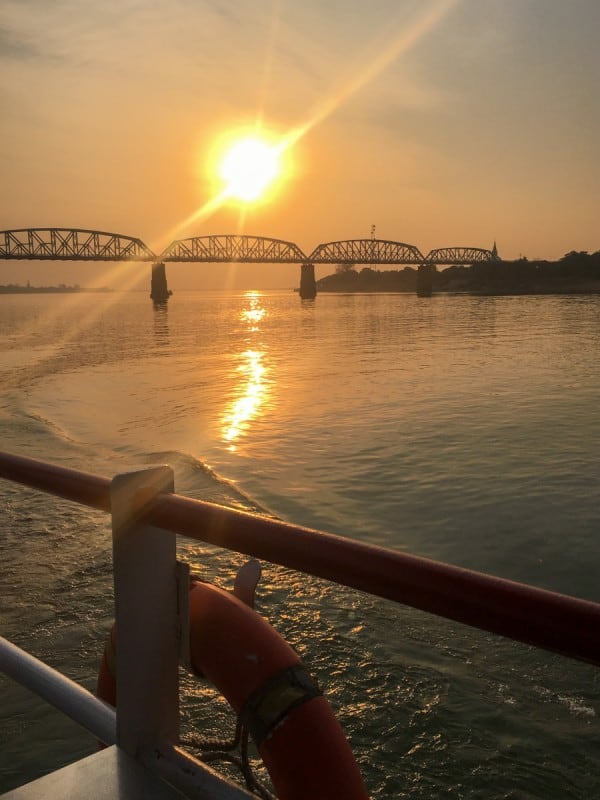 Sunset on the Ayeyarwady River