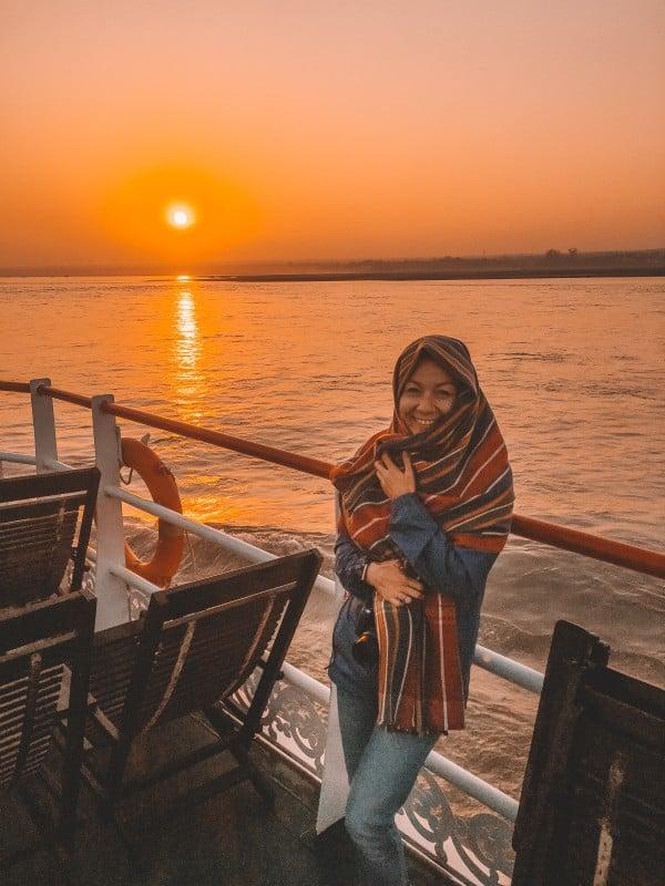 Sunrise on the Ayeyarwady River