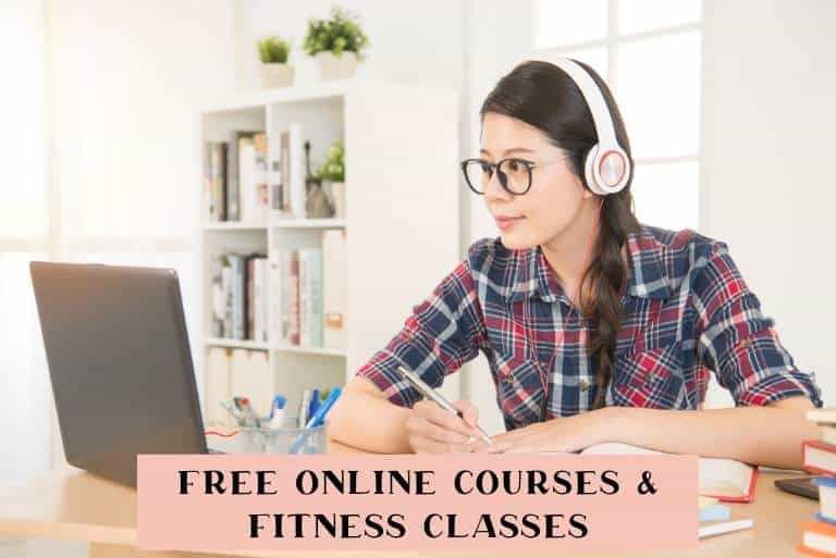 Free online course and fitness classes