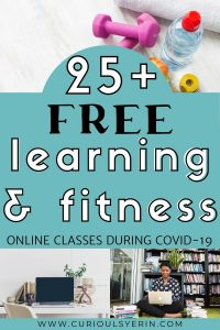 Use these 25+ FREE Online Courses & Fitness Classes to Keep busy and mentally stimulate when you can't travel. There are courses for travel bloggers, general learning, yoga, fitness, creatives and so many more. Many of these free online classes have special free periods while the pandemic is happening and we all need to stay inside. Use these courses to learn new skills or upskill old ones. The fitness classes will keep you active physically and mentally #stayhome #freefitnessapps #freeonlinelearning #digitalnomad