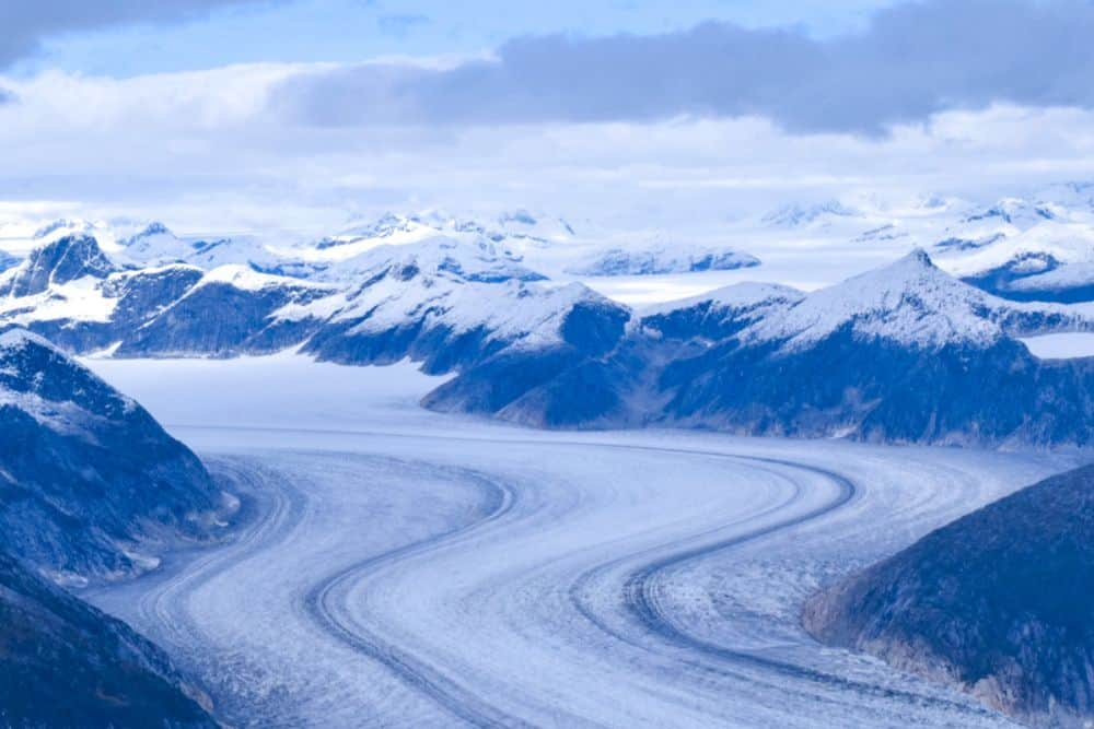 Juneau Ice field from helicopter tour