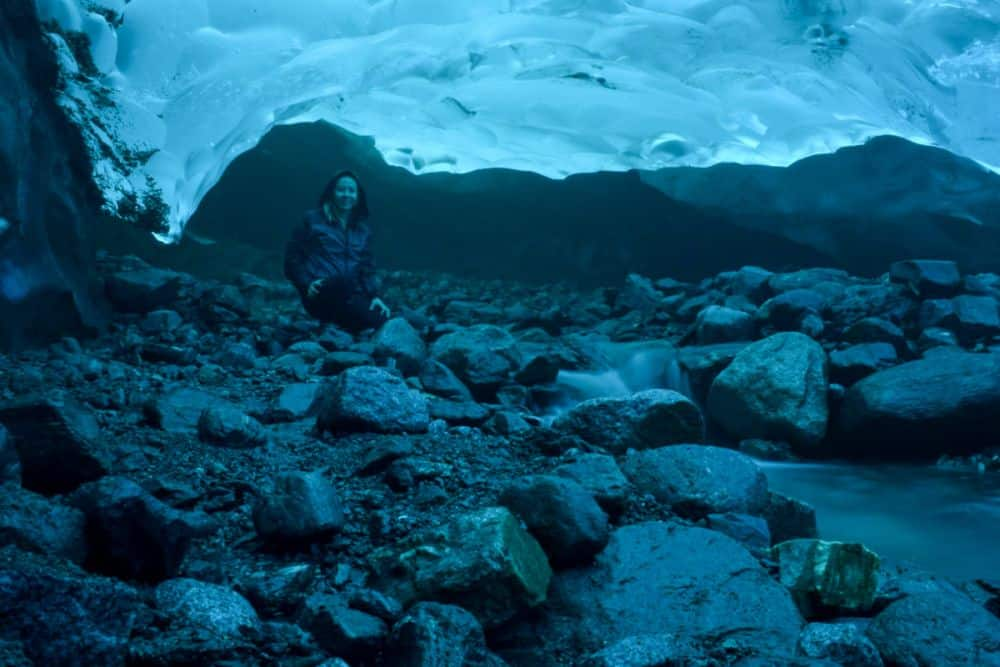 Ice Cave under the Mendenhall Glacier