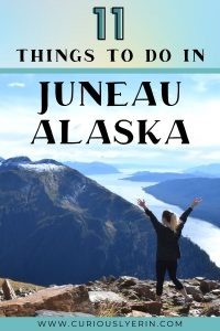Discover the top 11 things to do in Juneau for adventure seekers. The capital city of Alaska is an outdoor lovers paradise. Whether you are visiting on a cruise or have a whole week to explore Juneau there is so much to do here. In this post you will find what to do in Juneau, Alaska from discovering the Mendenhall Ice Caves, hiking Mount Juneau, where to eat Alaskan king crab and the best Juneau excursions and tours. #juneaualaskaexcursions #alaskatravel #juneaualaskathingstodo #juneauhiking
