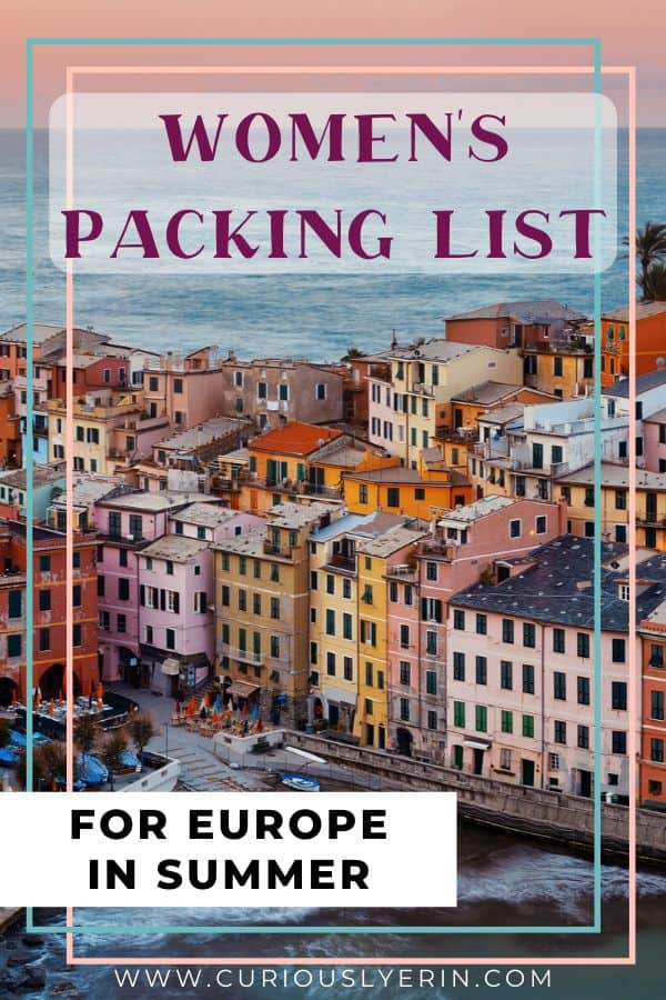 Don't leave your packing list for the Europe summer to chance. This packing list for Europe will keep you stress free when deciding what to pack. This comprehensive post has you covered and includes a FREE downloadable checklist. Whether you are in Europe for 1 week or have 3 months in Europe this list caters to you #europepackinglist #europesummer #traveltips #whattoweareurope
