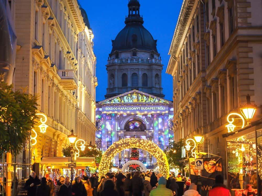 Budapest Hungary during Christmas