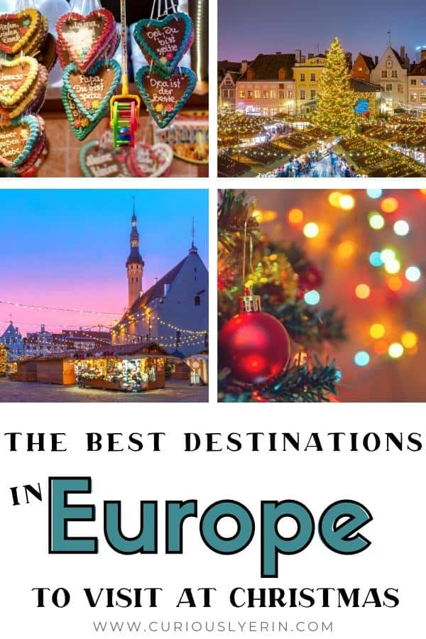 Are you looking for a magical Christmas destination in Europe but don't know where to go? Here you'll find the ultimate 12 Christmas break destinations! Find out where to find the best Christmas markets in Europe, where to get winter sun, enjoy a traditional Christmas, visit Lapland to see Santa and his elves and the top voted Christmas market in Europe as well as the gateway to the alps and more. #christmasbreaks #christmastravelideas  #christmasvacation #christmasdestinations #christmastodo