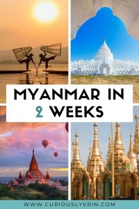 Planning a trip to Myanmar? Discover the perfect 2-week itinerary for Myanmar. In this guide, you'll find the top things to do in Mandalay, Bagan, Yangon, Inle Lake, Hpa An and more. Make sure you add these destinations to your Myanmar itinerary and bucket list. This detailed itinerary includes things to do in Myanmar, where to stay, how to get between destinations and top tips. This itinerary is also suited for solo travellers and budget travellers. #Myanmartravel #budgettraveldestination #thingstodoinmyanmar #myanmaritinerary