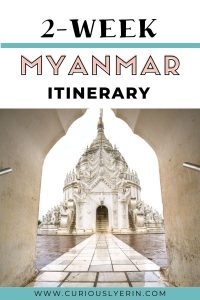 Discover the ultimate Myanmar itinerary. This 2 week itinerary includes things to do on a budget in Myanmar, solo travel tips and a detailed day-to-day itinerary. Start in Yangon and make your way to Hpa An, Bagan, Mandalay, Kalaw and Inle Lake. Add these destinations and top things to do in Myanmar to your travel planning for Myanmar. Includes a map and other practical advice. #travelmyanmar #myanmaritinerary #myanmaritinerarymap