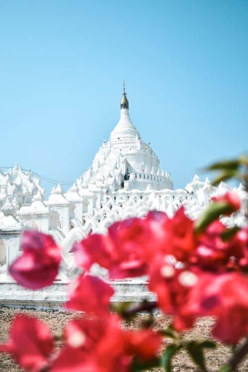 white temple hsinbyume pagoda