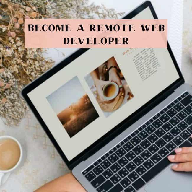 Digital nomad web developer job