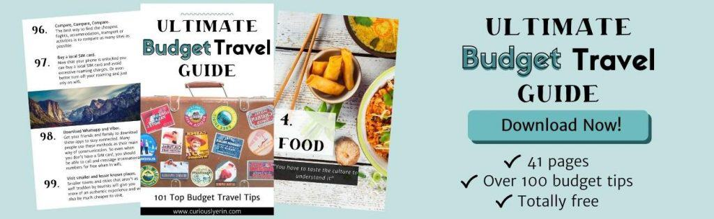How to travel on a budget ebook banner