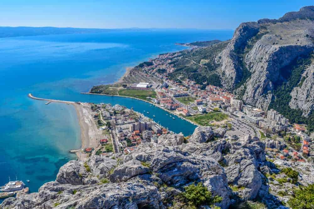 View from Fortress Mirabella over Omis