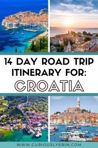 14 day road trip itinerary for Croatia. Discover the top destinations and places to visit in Croatia. This itinerary will take you across the entire country visiting the best places in Croatia from Islands, historical cities like Dubrovnik and Split and to the famous Krka waterfalls and Plitvice national park. #travelcroatia #croatiaroadtrip #14daysincroatia #croatiaitinerary