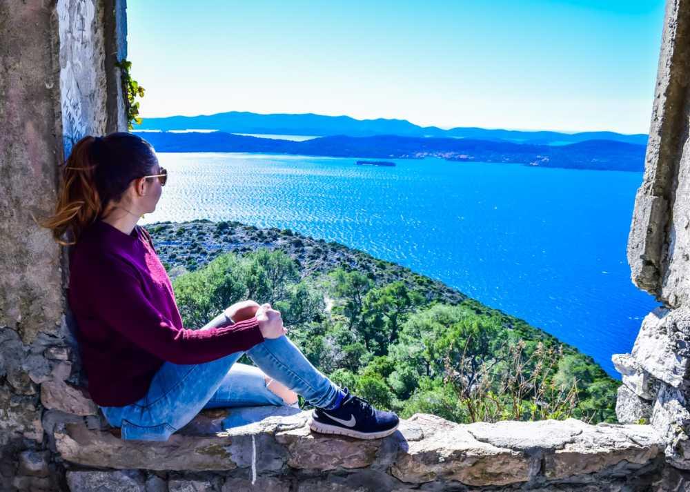 Saint Michael's Fortress on Ugljan Island day trip from Zadar